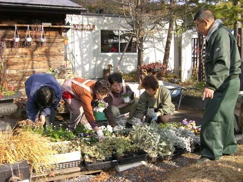 冬の花、寄せ植えワークショップ|竜門園