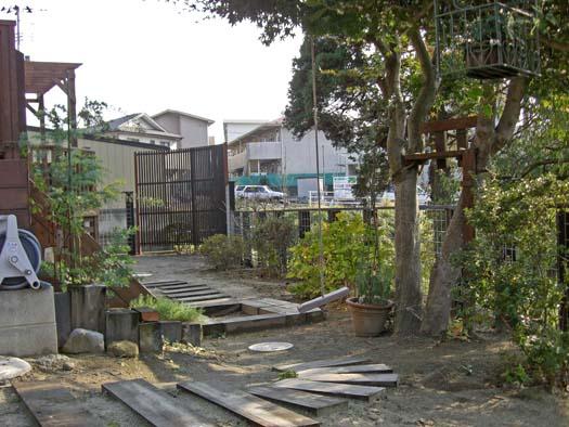 多賀城市 S様邸 枕木とメッシュフェンス_6|竜門園