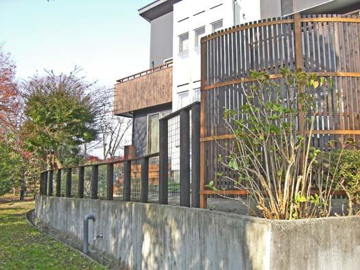 多賀城市 S様邸 枕木とメッシュフェンス_2|竜門園