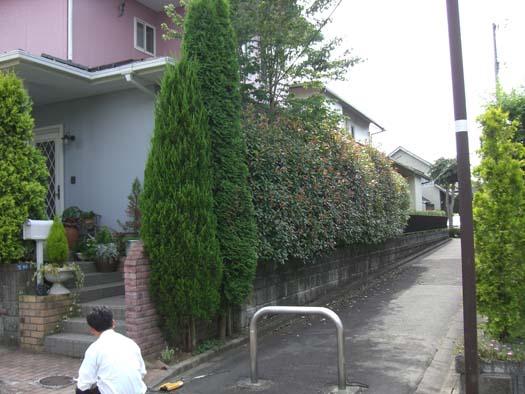 富谷町 S様邸 生垣を撤去して新設のフェンス取付_1|竜門園