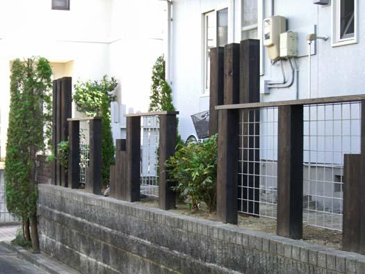 富谷町 S様邸 生垣を撤去して新設のフェンス取付|竜門園