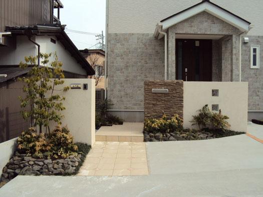 仙台市青葉区 S様邸 張り石の門柱・エクステリア工事_3|竜門園