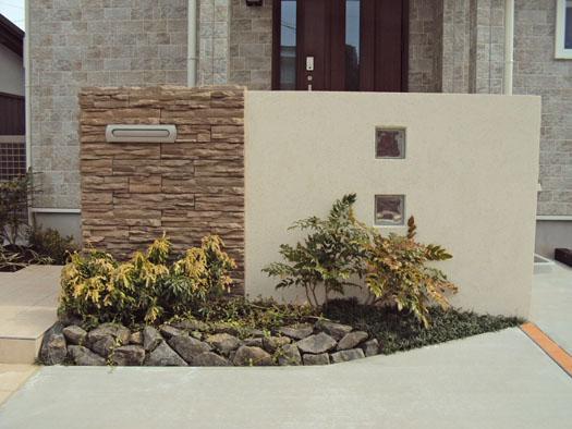 仙台市青葉区 S様邸 張り石の門柱・エクステリア工事_2|竜門園