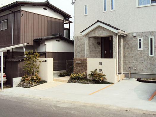 仙台市青葉区 S様邸 張り石の門柱・エクステリア工事|竜門園