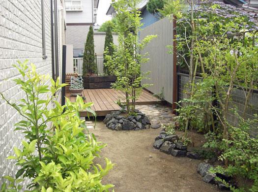 宮城県利府町 T様邸 目隠しフェンスとシンボルツリー|竜門園