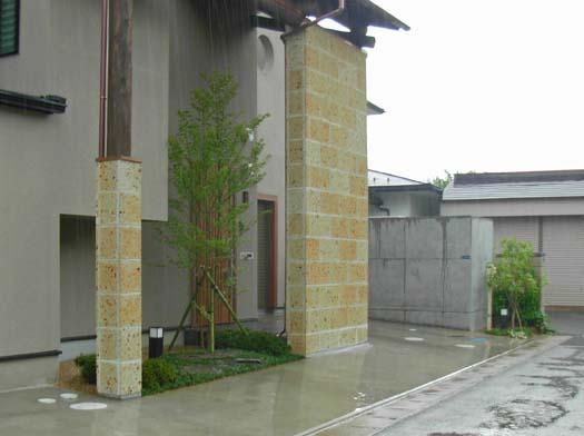 仙台市 I 様邸 芝生の築山と砂利敷きの庭_9|竜門園