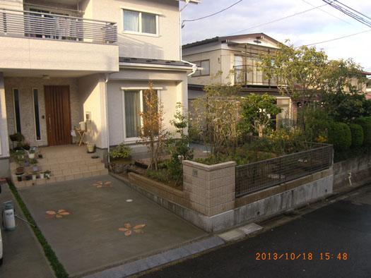 仙台市泉区 K様邸 シンボルツリーを囲むレンガ風の小路_2|竜門園