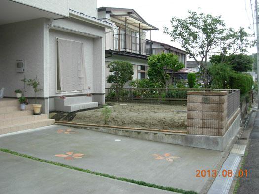 仙台市泉区 K様邸 シンボルツリーを囲むレンガ風の小路_1|竜門園
