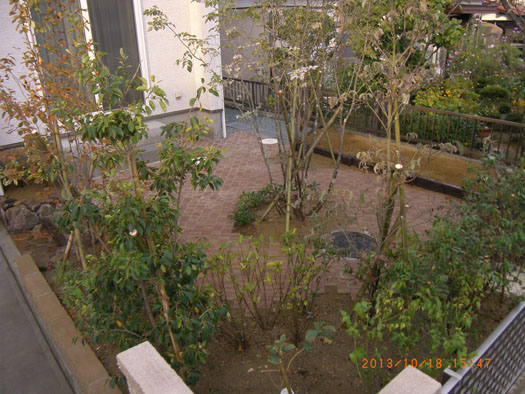 仙台市泉区 K様邸 シンボルツリーを囲むレンガ風の小路_7|竜門園