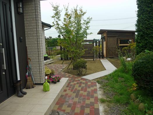 宮城県古川市 N様邸 木製フェンスとアプローチ_5|竜門園