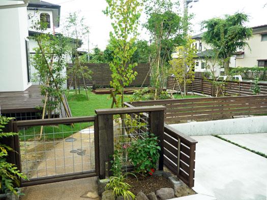 仙台市泉区 S様邸 ウッドフェンスと芝庭_1|竜門園