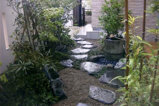 南三陸町 Y様邸 2世帯の庭_1|竜門園