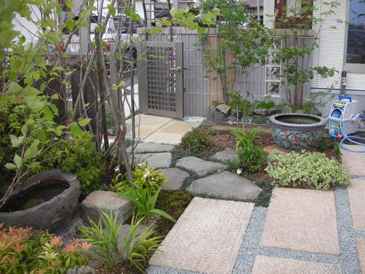 仙台市宮城野区 Y様邸 アプローチがつくる安らぎの庭_9|竜門園