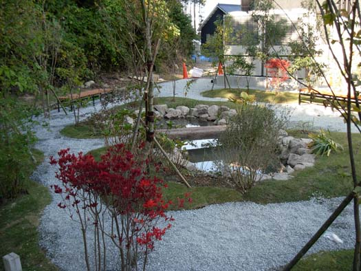 宮城県富谷町 八十島プロシード㈱ 工場修景とビオトープ_2|竜門園