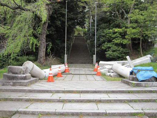 仙台市青葉区 青葉神社・鳥居復旧工事_2|竜門園