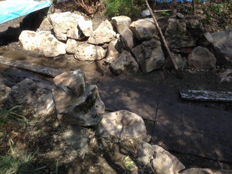 青葉神社にて石組|竜門園