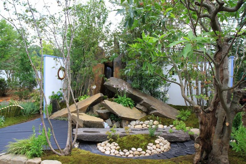 東日本ハウスグループ 全日本フラワー&ガーデン選手権 アーティザンガーデン部門(職人の技術と粋を集めた庭)銀賞_1|竜門園