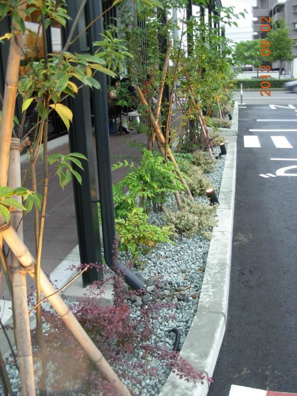 仙台市太白区 コーヒーショップ植栽工事_4|竜門園